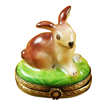 Load image into Gallery viewer, Small Bunny Limoges Box