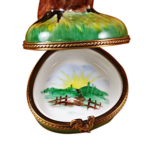 Tall Rooster Limoges Box
