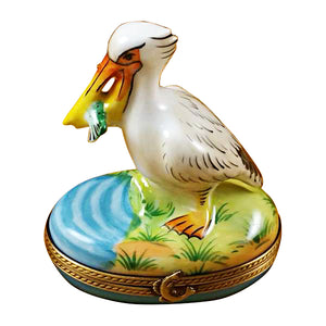 Pelican with Fish Limoges Box