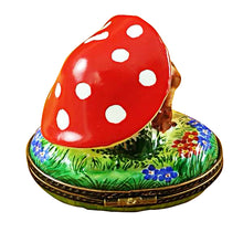 Load image into Gallery viewer, Bunnies Under Mushroom Limoges Box