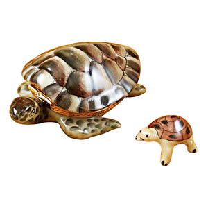 Turtle with Baby Limoges Box