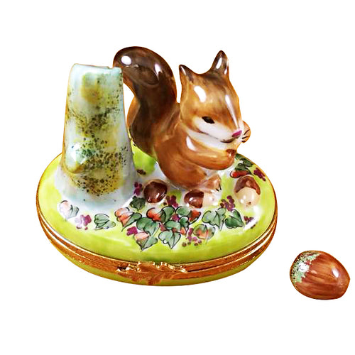 Squirrel with Acorn Limoges Box
