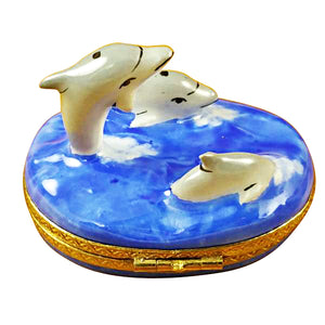 Three Dolphins Limoges Box