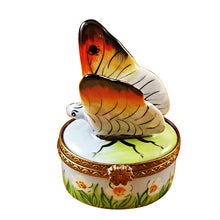 Load image into Gallery viewer, White Butterfly Limoges Box
