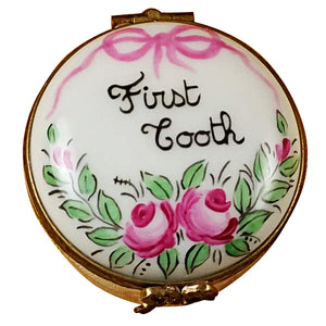 Pink First Tooth Limoges Box