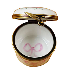 Pink First Curl Limoges Box