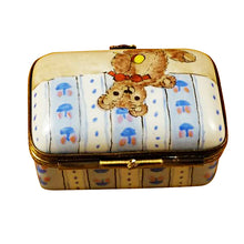 Load image into Gallery viewer, Rectangle Box with Teddy Bear Limoges Box