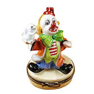 Clown with Rabbit Limoges Box