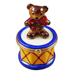 Bear on Drum Limoges Box