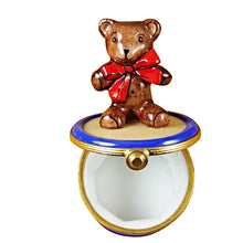 Load image into Gallery viewer, Bear on Drum Limoges Box