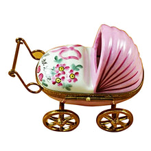 Load image into Gallery viewer, Pink Baby Carriage Limoges Box