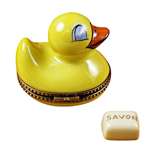 Duck with Soap Limoges Box