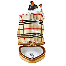 Load image into Gallery viewer, Cat in Burberry Bag Limoges Box