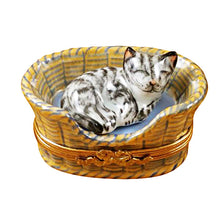 Load image into Gallery viewer, Dreaming Cat with Mouse Inside Limoges Box