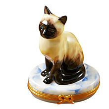 Load image into Gallery viewer, Siamese Cat Limoges Box