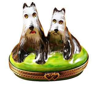 Salt & Pepper Schnauzers Limoges Box