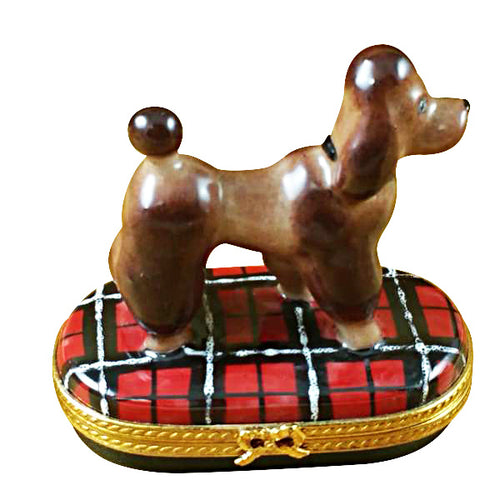 Chocolate Poodle Limoges Box