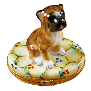 Boxer on Stones Limoges Box