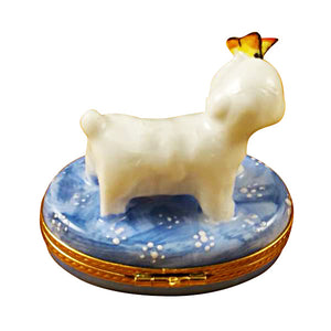 Bichon with Butterfly Limoges Box