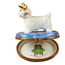Load image into Gallery viewer, Bichon with Butterfly Limoges Box