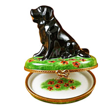 Load image into Gallery viewer, Large Black Lab Limoges Box
