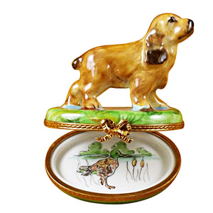 Cocker Spaniel Limoges Box
