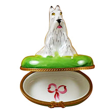 Load image into Gallery viewer, White Schnauzer Limoges Box