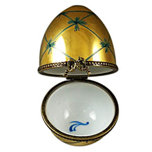 Load image into Gallery viewer, Gold Egg Limoges Box