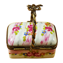 Load image into Gallery viewer, Pink Basket with Handle Limoges Box