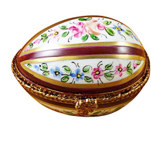 Load image into Gallery viewer, Burgundy Striped Egg Limoges Box