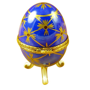 Blue Footed Egg Limoges Box
