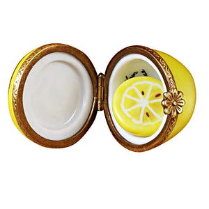 Half Lemon with Removable Slice Limoges Box