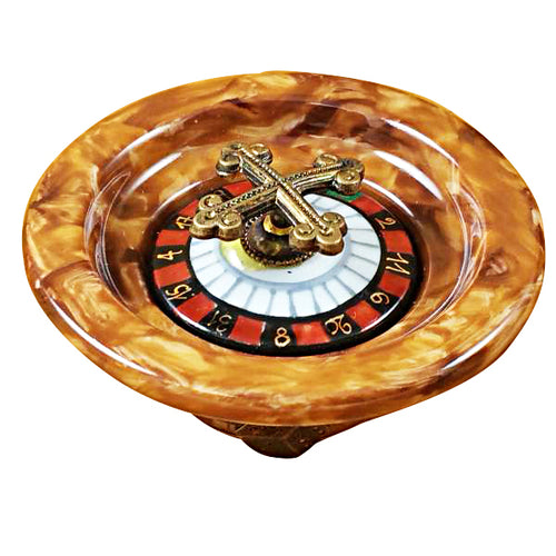 Roulette Wheel Brown Limoges Box