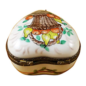 Heart with Fruit Basket Limoges Box
