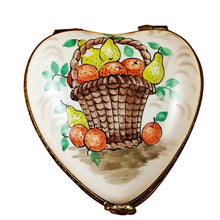 Load image into Gallery viewer, Heart with Fruit Basket Limoges Box