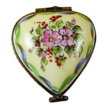 Load image into Gallery viewer, Yellow & Green Heart with Removable Heart Limoges Box
