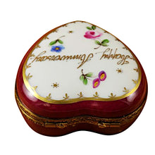 Load image into Gallery viewer, Happy Anniversary Heart with Removable Bottle Limoges Box