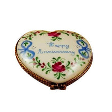 Load image into Gallery viewer, Happy Anniversary Heart - 50th Limoges Box