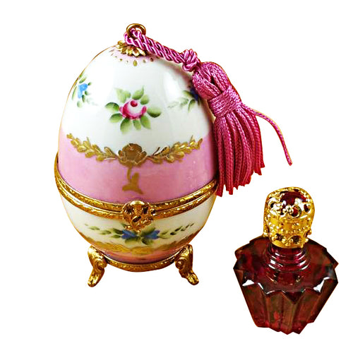 Pink Egg with Bottle Limoges Box