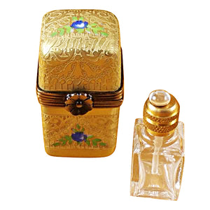 Gold Tall with One Bottle Limoges Box