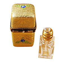 Load image into Gallery viewer, Gold Tall with One Bottle Limoges Box