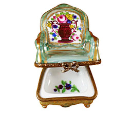 Load image into Gallery viewer, Green Armchair Limoges Box