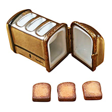 Load image into Gallery viewer, ToastER with Three Removable Pieces of Toast Limoges Box