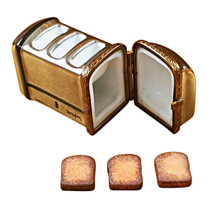 ToastER with Three Removable Pieces of Toast Limoges Box