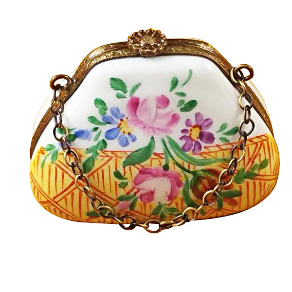 Yellow Purse Limoges Box