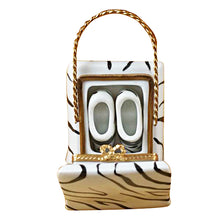Load image into Gallery viewer, Zebra Bag with Shoes Limoges Box