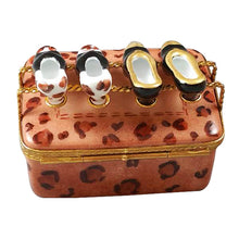 Load image into Gallery viewer, Shoe box with Two Pair of Shoes Limoges Box