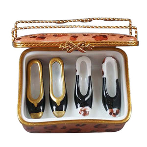 Shoe box with Two Pair of Shoes Limoges Box