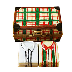 Suitcase with 2 Shirts Limoges Box