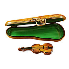 Load image into Gallery viewer, Violin in Brown Case Limoges Box